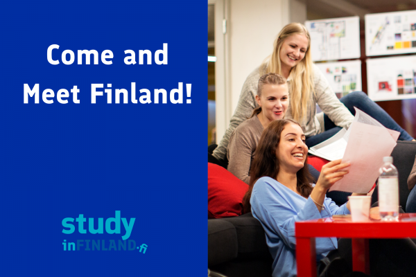 Come and meet Finland - picture of students at a table